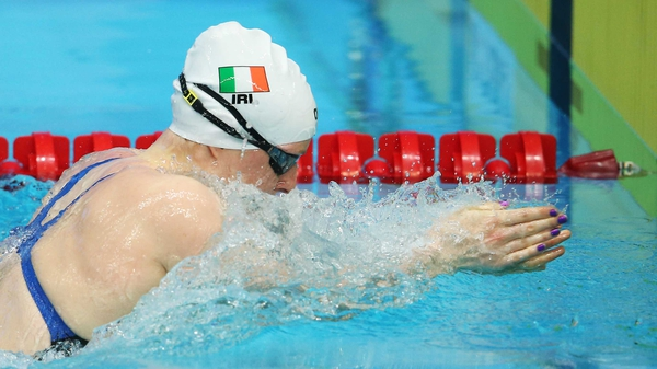 Doyle won silver in the 100m breaststroke at the games