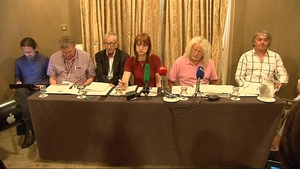 Mick Wallace (second from right) claimed there is a serious lack of democratic accountability of the force