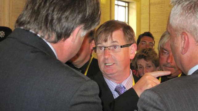 Willie Frazer was arrested for breaching his bail conditions