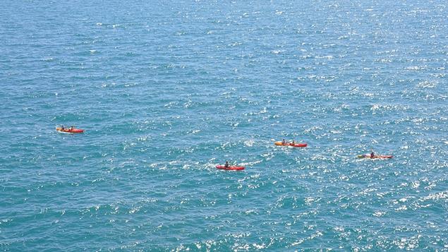 Sea kayaking takes place around Dubrovnik