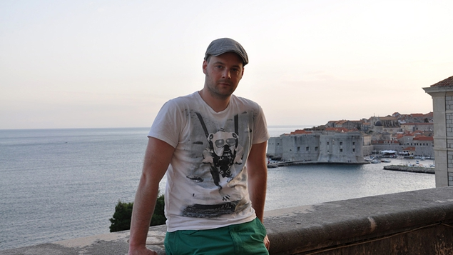 Tadhg Peavoy on the balcony of the Dubrovnik Museum of Modern Art