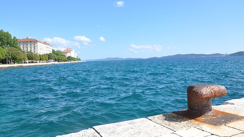 The view out from Zadar harbour