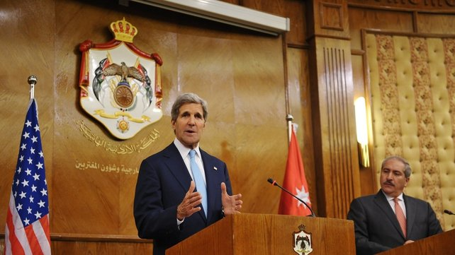 John Kerry repeated the US position that it has not yet made any decision on Egyptian aid