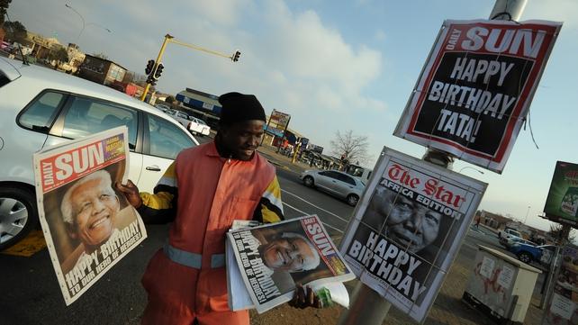 South Africa is celebrating the birthday of Nelson Mandela