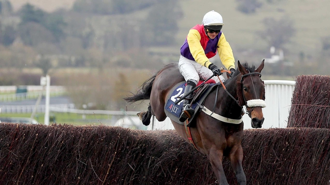 Brendan Powell jnr won the JLT Speciality Steeple Chase at Cheltenham with Golden Chieftan