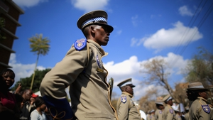 Members of the Metro Police Force join the celebrations in Pretoria