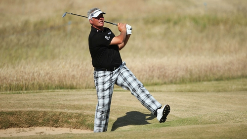 Darren Clarke bogeyed the final hole to post one over in the opening round at Muirfield