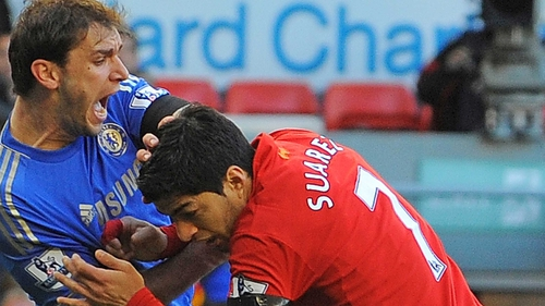 Brendan Rodgers said he was let down by Suarez when he bit Branislav Ivanovic