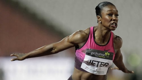 Carmelita Jeter was one of the athletes to walk out of a press conference in Monaco