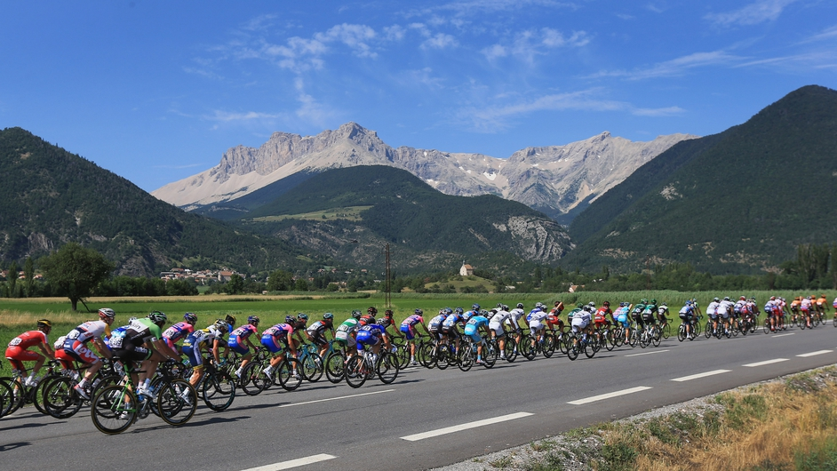 The peloton makes it way towards the Alps on stage 16 of the Tour de France