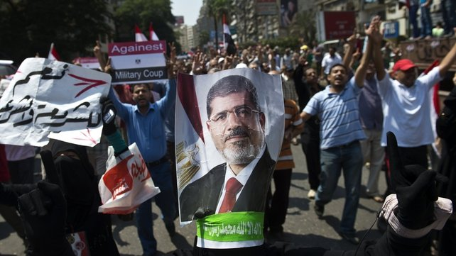 Muslim Brotherhood supporters have called for the reinstatement of Mohammed Mursi