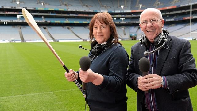 Gearóidín Nic an Iomaire, RnaG Head of Sports, and Seán Bán Breathnach.
