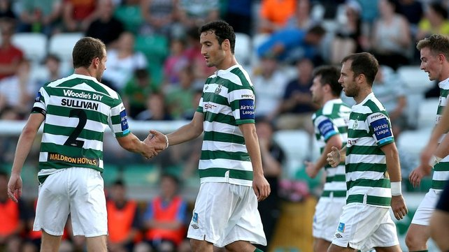 Eamon Zayed grabbed his first league goal in the green and white hoops of Shamrock Rovers