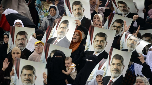 Mohammed Mursi's Muslim Brotherhood staged fresh rallies today to maintain pressure on the new, interim government