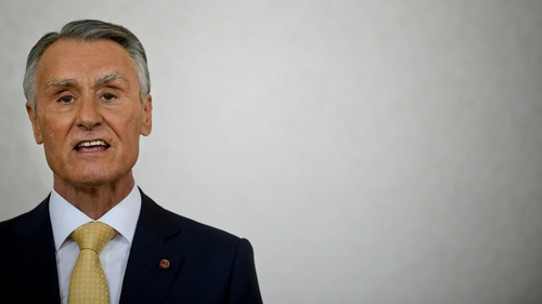 Portuguese President Anibal Cavaco Silva addressed the nation from the presidential palace in Lisbon