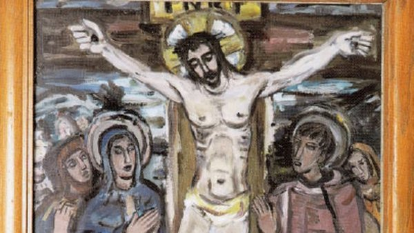 The Evie Hone oil paintings formed part of the 14 stations of the cross