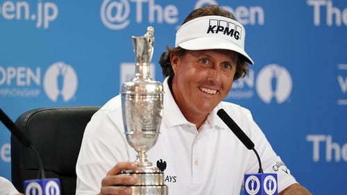 Phil Mickelson has three Masters' green jackets, the Wanamaker Trophy and an Open claret jug but has yet to land the US Open