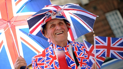 Royal fans wait outside the Lindo Wing of St Mary's Hospital in Paddington, London