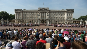 Crowds at Buckingham Palace following the news that the Duchess of Cambridge had gone into labour