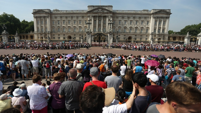 Thousands spent the day waiting for the announcement outside Buckingham Palace