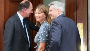 Carole and Michael Middleton arrive at St Mary's Hospital
