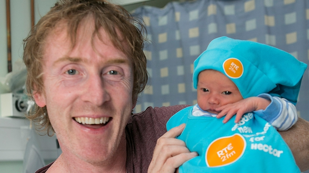 Hector welcomes baby Owen - his newest listener!