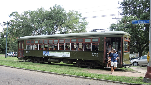 The St Charles Avenue streetcar