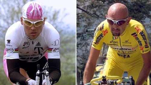 Jan Ulrich (left) and Marco Pantani (right) both took EPO in the 1998 Tour