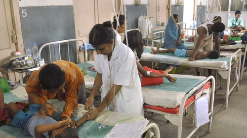 Dozens of children were taken to hospital in Bihar state