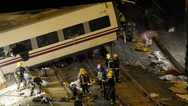 All the train carriages are believed to have derailed