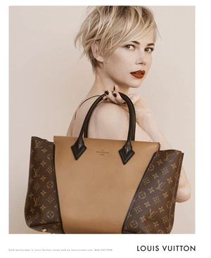 Williams modelling for Louis Vuitton