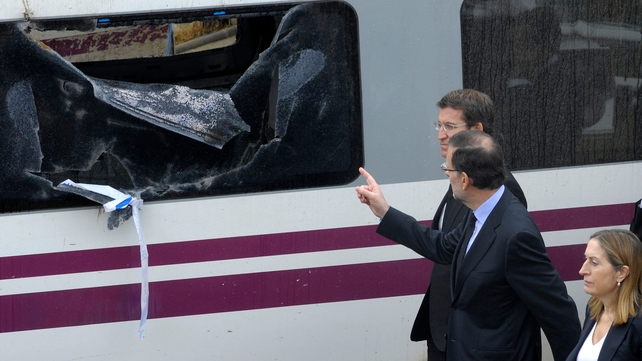 Mariano Rajoy visited the crash site this morning