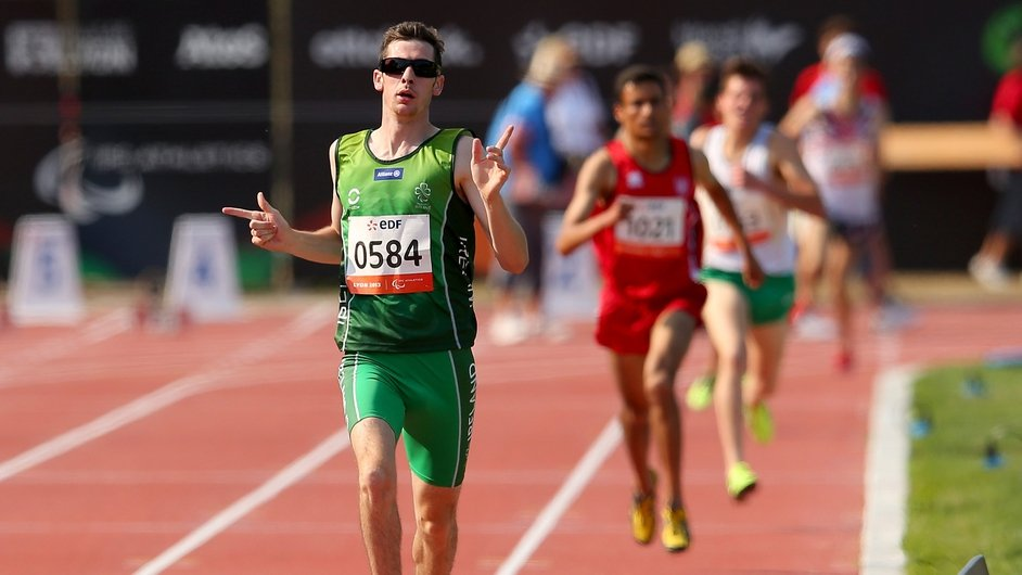 Michael McKillop wins his second gold medal at the IPC World Championships in Lyon, France