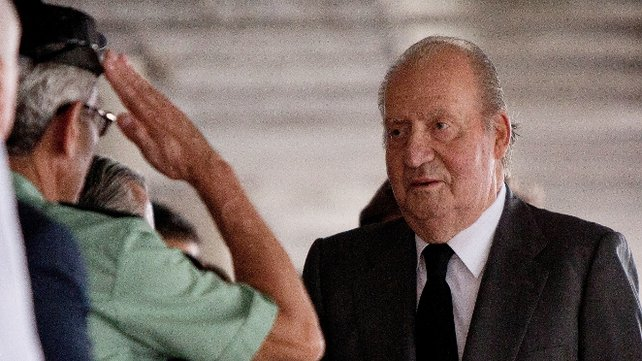 King Juan Carlos visited the injured in hospital