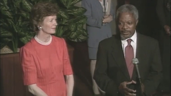 Mary Robinson and Kofi Annan