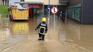 A devastating flood last summer hit 70% of services in the hospital (Pic: Declan Doherty)