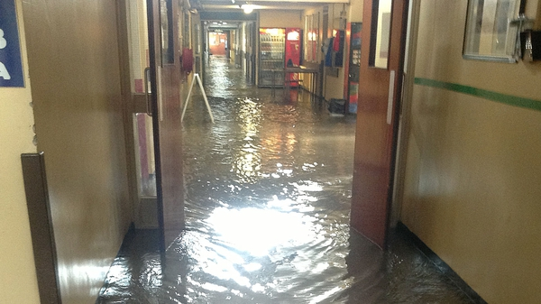 An emergency was declared at Letterkenny Hospital following floods in July