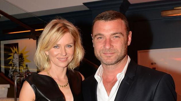 Naomi Watts with husband Liev Scheiber