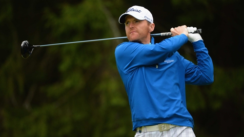 Michael Hoey holds a five-stroke lead in Russia