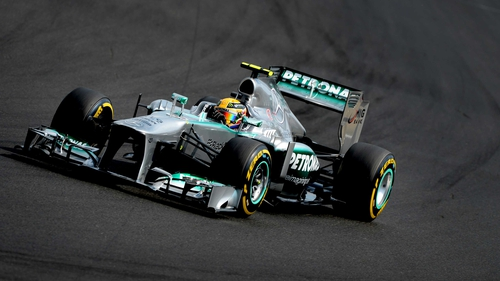 Lewis Hamilton top the time sheets in the first practice in Shanghai
