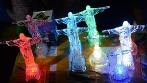 Some of the memorabilia on sale in Rio
