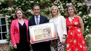 Caroline Criado Perez (far right) successfully campaigned to have women represented on bank notes