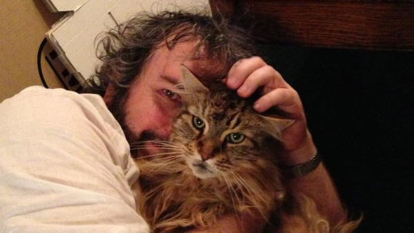 Peter Jackson with Mr Smudge