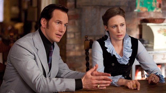 Real-life 1970s' paranormal investigators Ed and Lorraine Warren are played by Patrick Wilson and Vera Farmiga