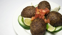 Falafels with Easy Harissa Dip - It's very easy to make your own...