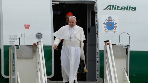 Pope Francis arrives back in Rome following his visit to Brazil