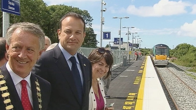 Minister Leo Varadkar (C) has rejected suggestions there are plans to close railway lines