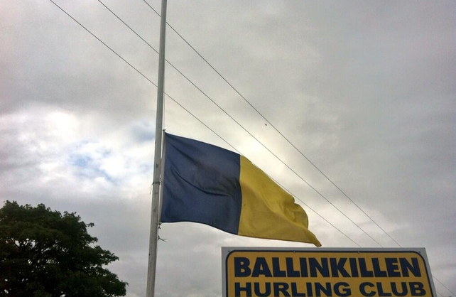 Flag flies at half mast at Ballinkillen Hurling Club where Eoghan and Ruairi played