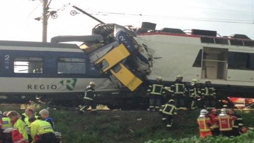 Two passenger trains collided in western Switzerland