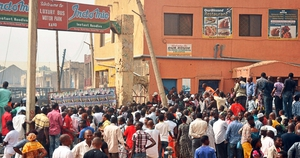 Witnesses said they saw dead bodies after hearing multiple blasts in the predominantly Christian Sabon Gari district